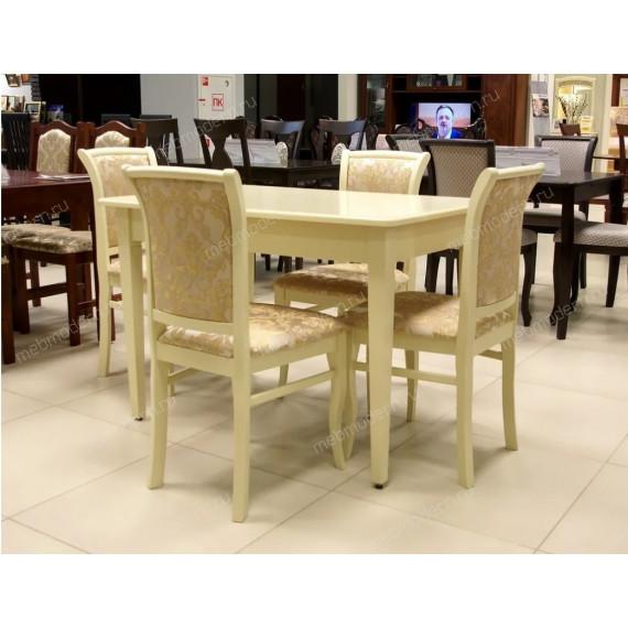 Обеденная группа стол Барсук и 4 стула М-15