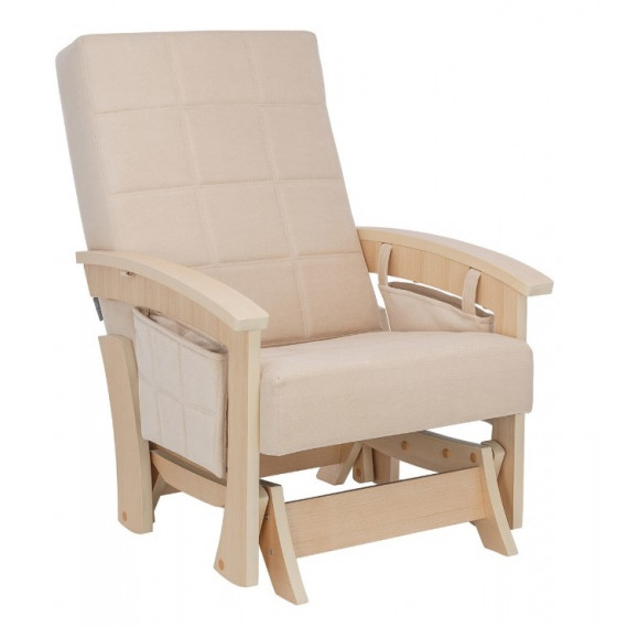 Кресло-качалка глайдер Нордик натурал/бежевый