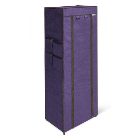 Стеллаж SHT-SS15-P (пластик-плотная ткань/черный-сине-фиолетовый)