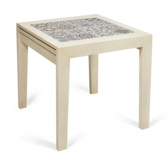 CT 3030 Kasablanca стол раскладной с плиткой античный белый