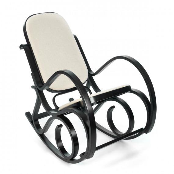 Кресло-качалка mod. AX3002-2 венге #9, ткань бежевая 1089-С