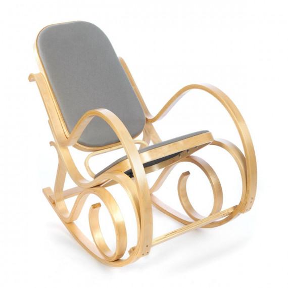 Кресло-качалка mod. AX3002-2 натуральный #1/ ткань светло-серая 2022