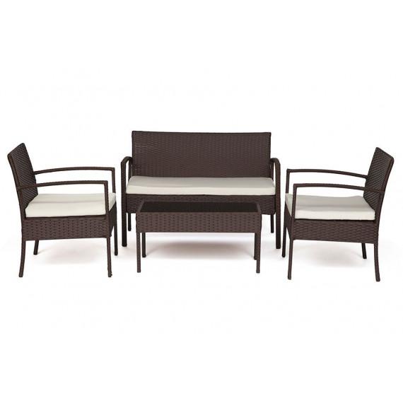 Лаундж сет (диван+2кресла+столик+подушки) (mod. 210000)