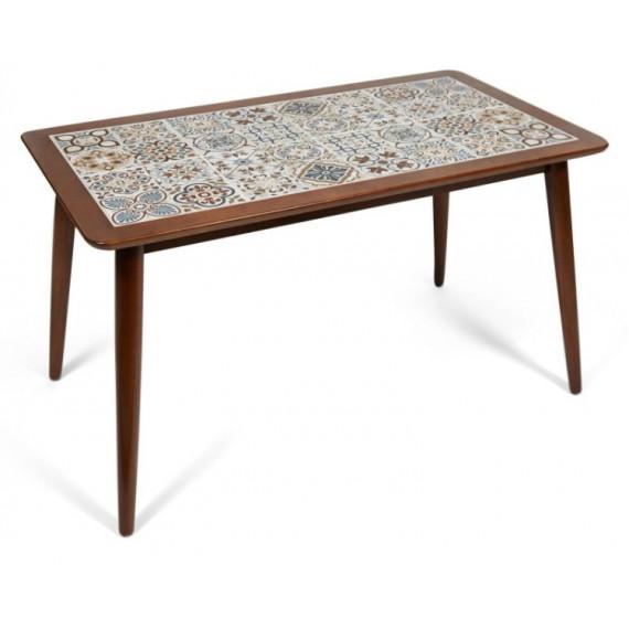 CT3052 Tanger стол с плиткой темный дуб