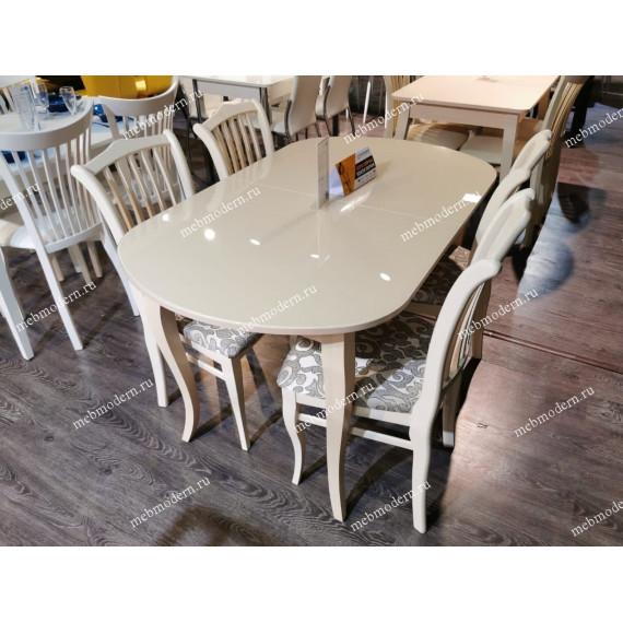 Обеденная группа стол 1300С + 4 стула 103С ткань карамель