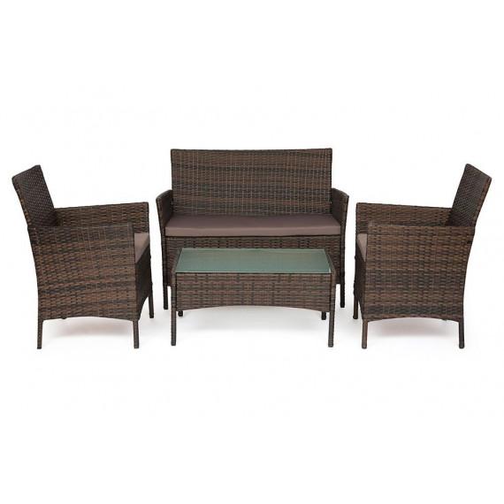 Лаундж сет (диван+2кресла+столик+подушки) (mod. 210013 А)