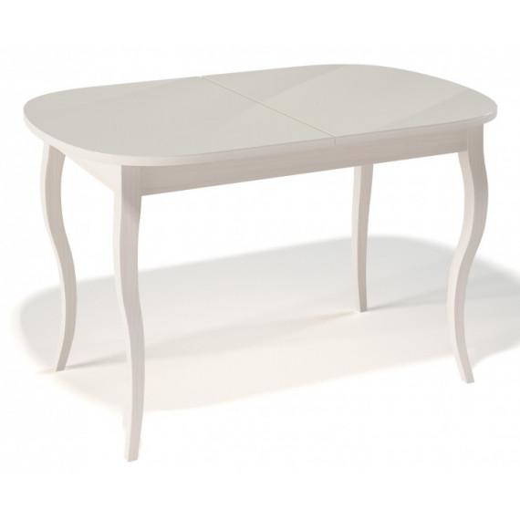 Стол 1300С крем/стекло крем