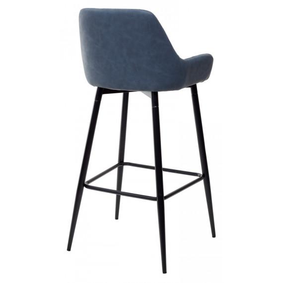 Барный стул PUNCH полночный синий TRF-06/ экокожа синяя сталь RU-03