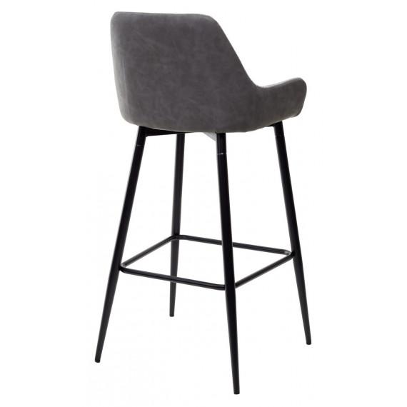 Барный стул PUNCH теплый серый TRF-08/ экокожа серая сталь RU-07