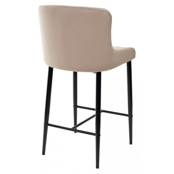 Барный стул ARTEMIS бежевый, велюр G108-74 (H=65cm)