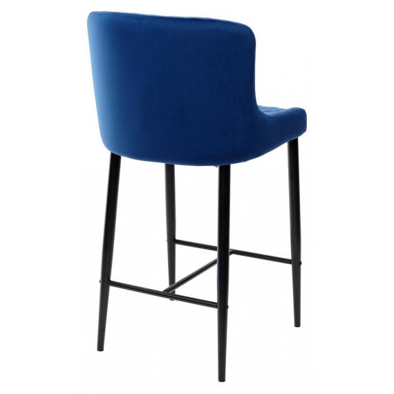 Барный стул ARTEMIS глубокий синий, велюр G108-67 (H=65cm)