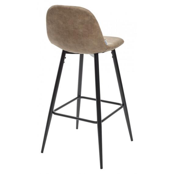 Барный стул LION BAR PK-01 серо-коричневый, ткань микрофибра PK-01