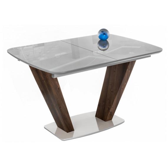 Стол на тумбе Петир серый/орех кантри