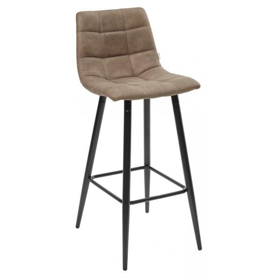 SPICE PK-01 Барный стул серо-коричневый, ткань микрофибра