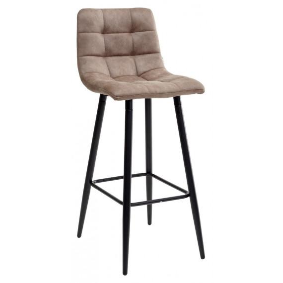 Барный стул SPICE MF-06 теплый серый, ткань микрофибра