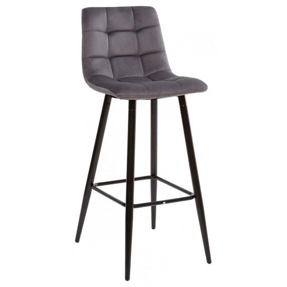 LECCO UF910-05 DARK GREY барный стул, велюр