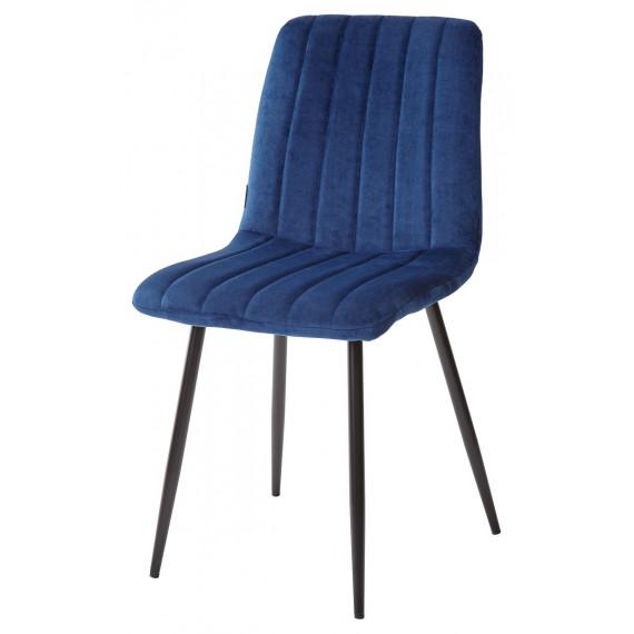 Стул DUBLIN G062-49 синий, велюр