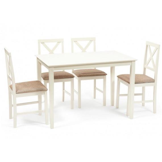Обеденная группа «Хадсон» Hudson Dining Set ivory white/ткань кор.-зол
