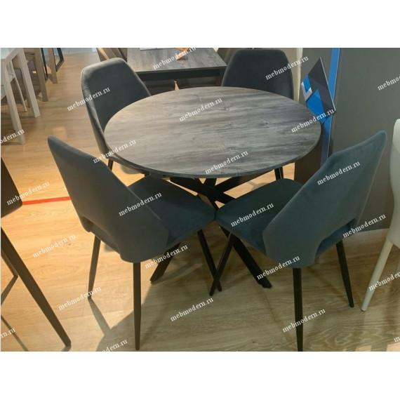 Обеденная группа Dikline RD100 сосна пасадена/стул 212 V11 серый