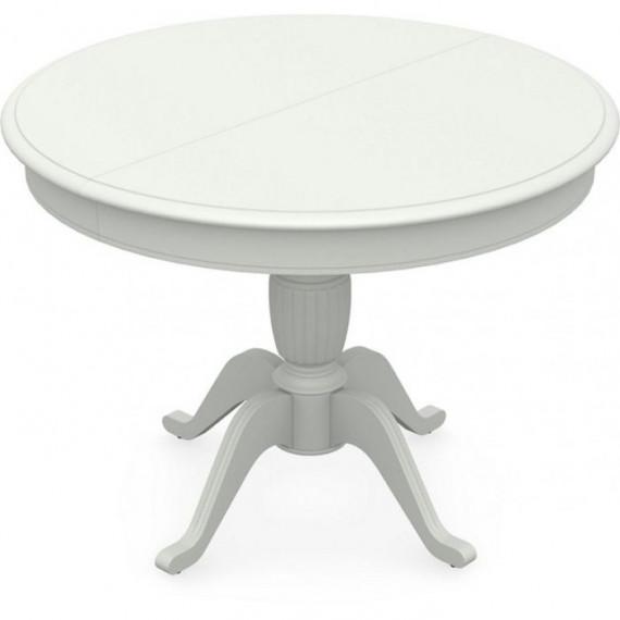Стол обеденный Леонардо 1 (D 820), Тон 9 белая эмаль