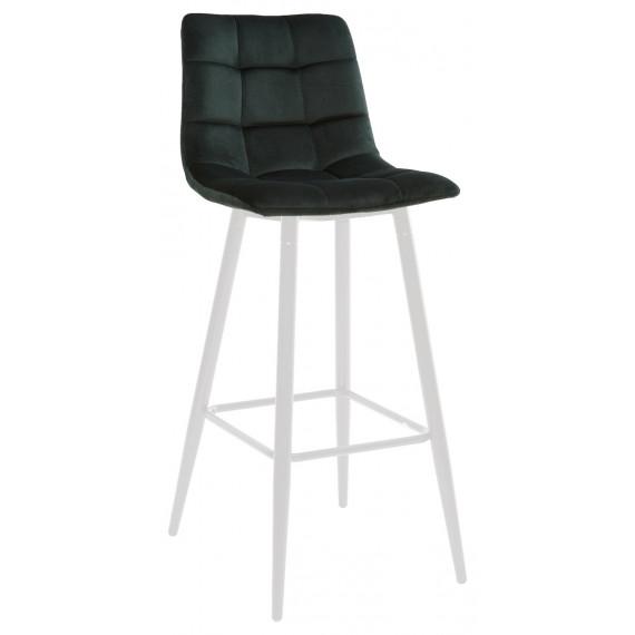 LECCO UF910-14 DARK GREEN барный стул, велюр/белый каркас