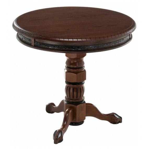 Журнальный столик Бернард орех с коричневой патиной