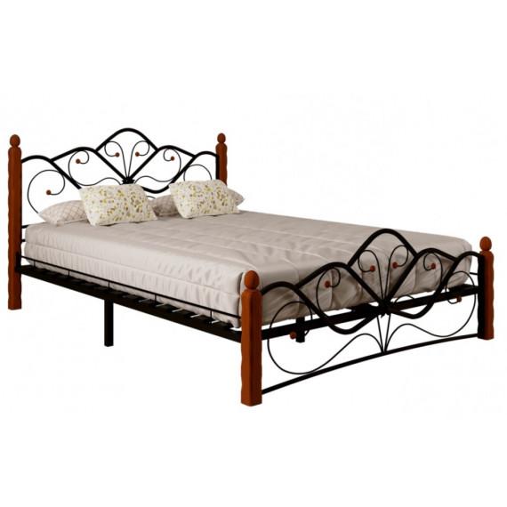 Кровать Венера 1 черный/махагон 160х200 см