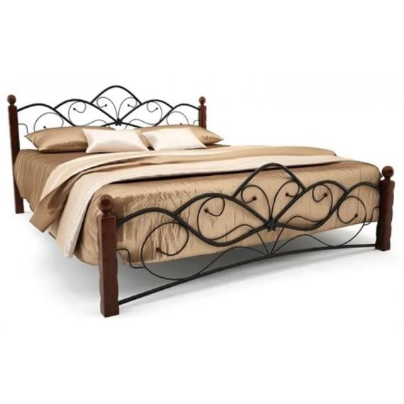 Кровать Венера 1 черный/шоколад 160х200 см