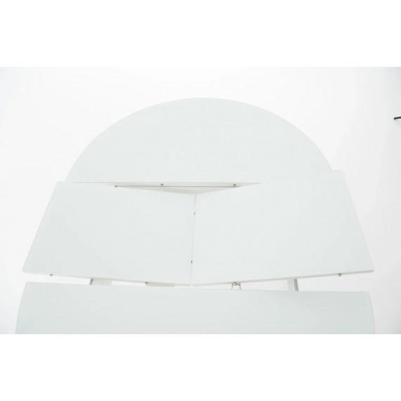 Обеденная группа Ривьера круг белый/DUBLIN белый каркас