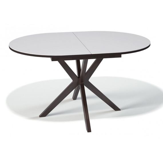 Стол B1300 венге/стекло белое
