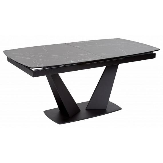 Стол ACUTO2 170 NERO KL-116 Черный мрамор матовый, ит/керамика/ черный каркас