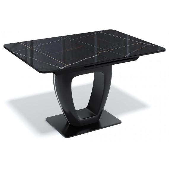 Стол BA1200 черный/стекло камень черный