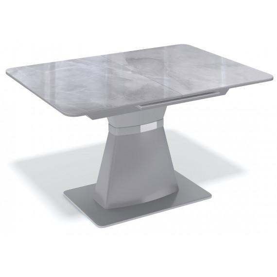 Стол BS1200 серый/стекло камень серый