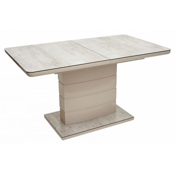 Стол ALTA BEIGE/ CAPPUCINO глазурованное стекло