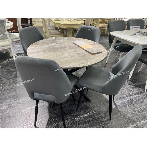 Обеденная группа Dikline RD100 сосна пасадена/стул 212 V11 серыйй