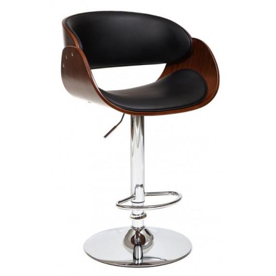 Барный стул LANDO (mod.4036) черный/орех/хром