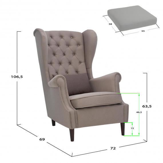 Кресло Leset Vintage Melva 61
