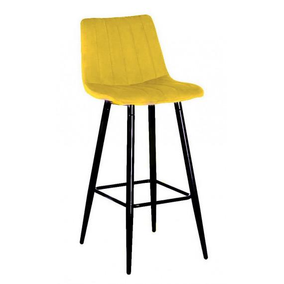 Барный стул DERRY G108-22 золотая осина, велюр