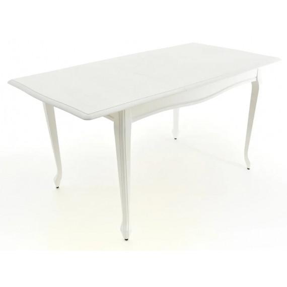Стол Кабриоль белая эмаль 9/патина серебро