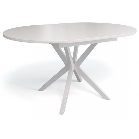 Стол 1300М белый/стекло белое