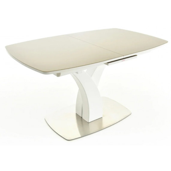 Стол Нотр-Дам белый/стекло NCS S 3010-Y40R(капучино)