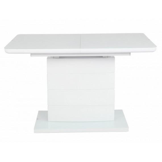 Стол ALTA 120 WHITE / супер белое глянцевое стекло