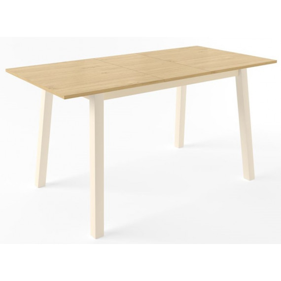 ТИРК стол раздвижной 110(140)х70, Дуб/Кремовый