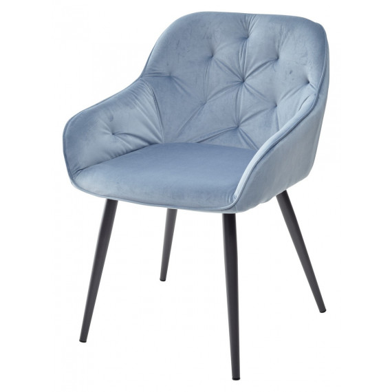 Стул BREEZE G108-56 пудровый синий/темно-серый каркас, велюр