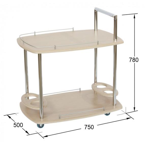 Стол сервировочный Банкет/Leset Эсперанс (дуб беленый)