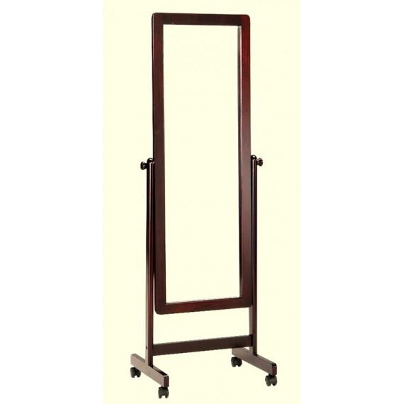 Зеркало MK-6331 на колесиках 39х39х147 см Темный орех