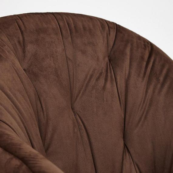 Кресло LIVORNO (mod.1602) коричневый вельвет