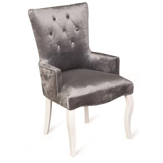 Кресло Виктория (эмаль белая /36 - голубовато-серый)