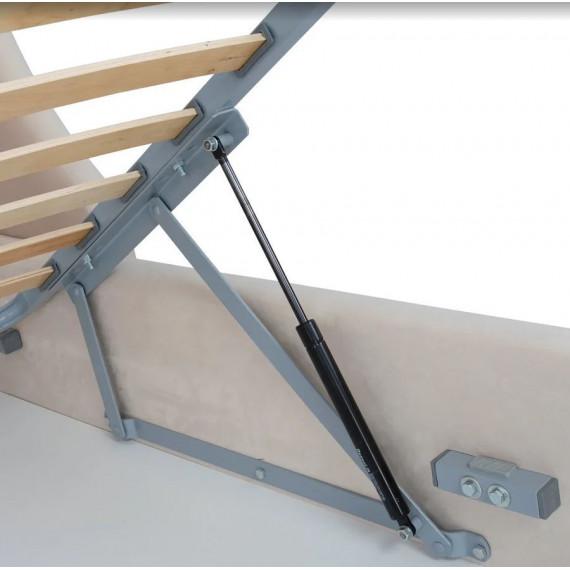 Кровать Hugo Premier 03 (кремовый велюр) 1600*2000 комплектация LUXE с подьемным механизмом