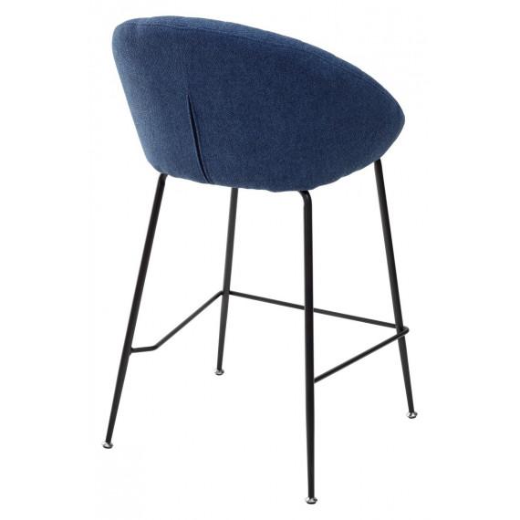 Полубарный стул ATLAS 9105-26 синий (H=65cm)